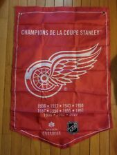 Molson Beer Stanley Cup Banner Flags Detroit Red Wings