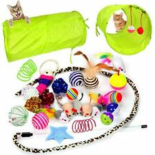 New listing Youngever 24 Cat Toys Kitten Toys Assortments, 2 Way Tunnel, Cat Feather Na