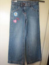 K24) Ragazze Marks & Spencer Blue Jeans Chiusura Zip Età 8