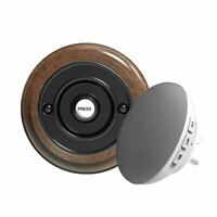 Traditional High Quality Wireless Doorbell in Tudor Oak and Black