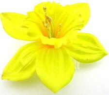 "4 1/2"" Yellow Hibiscus Poly Silk Flower Hair Comb,Wedding,Prom,Dance,Bridesmaid"