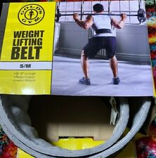 """Gold's Gym Leather Belt Small/Medium 22"""" - 33"""" in Length"""
