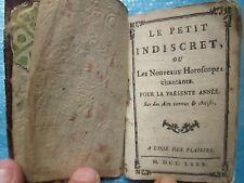 LE PETIT INDISCRET les nouveaux horoscopes chantants. L'Isle des Plaisirs, 1780.