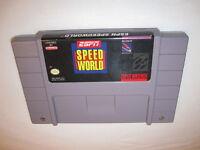 ESPN Speedworld (Super Nintendo System, 1994) SNES Game Cartridge Excellent!