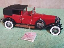 Franklin Mint Red 1929 Rolls Royce Phantom 1 Cabriolet Deville 1:24
