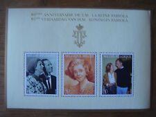 Bloc 3 timbres 80 ème anniversaire Reine Fabiola ( 3 timbres valeur 1 )
