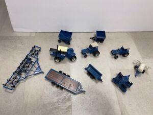10 Vintage FORD Die-Cast Metal Tractor Tractors Farm Implements Ertl