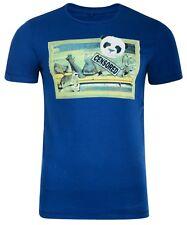 Blend Nuevo Hombre Ajustado Panda Mujer Camiseta Estampada Jersey de Algodón Top