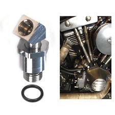 Öldruckmanometer Adapter Anschluss Set - für Harley Shovelhead und EVO 70-99