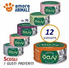 12 Scatolette Oasy Wet Cat More Love - GUSTI A SCELTA  70 gr.- umido per gatti