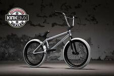 "2018 Kink CURB 20"" BMX Bicycle Matte Silver Fox - Street Dirt BMX Bike"