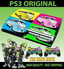 PLAYSTATION PS3 OLD SHAPE VW CAMPER ANDY WARHOL STYLE ART COLOUR STICKER SKIN
