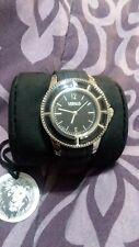 Versace Versus Tokyo VSPOY0118 Gold Black Silicone Strap Watch Men's Women's
