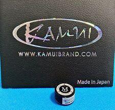 (1) Genuine M KAMUI BLACK CLEAR Pool Cue Tip ( MEDIUM ) - w/ serial number