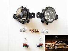 For 2008 2009 2010 Infiniti M35 M45 Clear Lens Fog Driving Light Kit with Bulbs