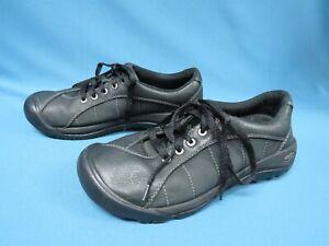 Keen Coronado Black Leather Lace Up Shoes Women's Size 8.5 Euro 39