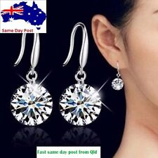 Fashion Women Silver Cubic Zircon Crystal CZ Rhinestone Earring Jewellery Hook