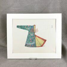 Antique Fashion Print Chinese Oirat tribe Dzungar Jacket Historical Costume