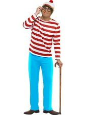 Wheres Wally Character Adult Costume Book Day Party Fancy Dress Medium Chest Size 38-40