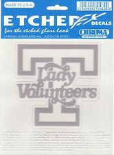 "TENNESSEE LADY VOLS 5""X 6"" ETCHED DECAL UNIVERSITY UT VOLUNTEERS"