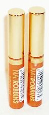 2 Natrobbins Brush-On Lip Lacquer CLEAR #17