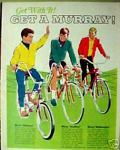 1968 Get With It Murray Boys Bicycles Eliminators~Middleweights Bikes Print AD