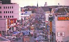 Val d'Or Quebec Canada Parade Festival Street View Old Cars Postcard