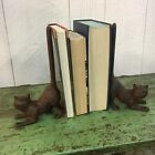 (2) Vintage Look Cat Book Ends Set Solid Cast Iron 9 1/2 Tall Kitten Cute Pair