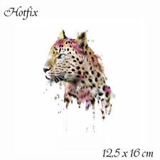 Bügelbild Leopard, Hotfix 12,5 x 16 cm Applikation für Ihre Textilien,