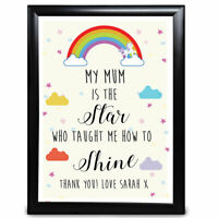 Personalised Mothers Day Gifts Rainbow Birthday Mother Mum Mummy Nan Nanny Her