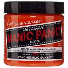 Manic Panic Semi-Permanent Hair Color Cream, Psychedelic Sunset 4 oz (Pack of 2)