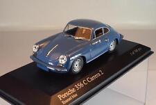Minichamps 1/43 porsche 356 C Carrera 2 1963 bleu emballage d'origine #156