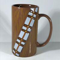 "Disney Star Wars Chewbacca Embossed Tool Belt Tall Coffee Cup 6 1/8"" High"