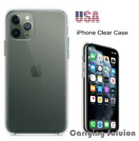 iPhone 11 Pro Max [360° Crystal] Shockproof Clear Back TPU Soft Case Cover Glass