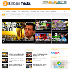 Turnkey Crypto Currency Video News Website Automated Free Hosting Setup
