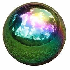 "Meadow Creek Luminous Garden Glass 11.8"" H Gazing Ball - Red/Orange"