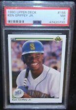 1990 Upper Deck Ken Griffey Jr. Card #156 NM 7 PSA