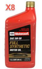 8 Quarts Motor Oil OEM FORD MOTORCRAFT Fully Synthetic SAE 5W50