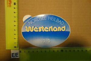 Alter Aufkleber Reise Urlaub Insel Sylt Stadt WESTERLAND 1979