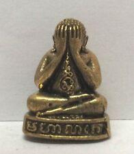 Statuette figurine laiton amulette Bouddhisme RARE BOUDDHA Thaïlande b27