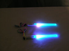 Pair (2) LED Multi Colored 7 Mode Poi Sticks Rave Wand Lightstick Fast Shipping