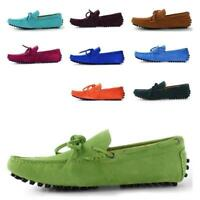 26 Colors Men Suede Leather casual Lace Up Loafer stylish show boat Driver shoes