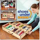 HOT 12 Pairs Shoes Organizer Holder Under Bed Closet Storage Fabric Bag Box Case