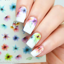 Chinese Ink Nail Art Water Decals Manicure Colorful Transfer Stickers Decor Tips