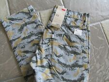 NEW LEVIS 511 SKINNY JEANS MENS 30X30 SLIM TROUSER GRAY CAMO  FREE SHIP