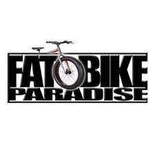 2D Fat Bike Paradise Bumper Sticker Decal Graphic