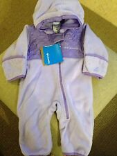 Baby Girl Columbia 1 Piece Plushy Fleece Bunting Snow Suit Size 6 Mo Infant NWT