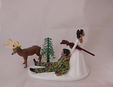 Wedding ~Buck Deer~ Cake Topper Camo ETHNIC Hunter Hunting Redneck Gun Rifle