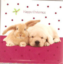 Golden Retriever Rabbit Christmas Gift Tags or Cards - Pack 10