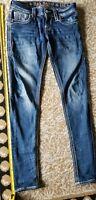 WOMEN'S ROCK REVIVAL Skinny Straight  JEANS EMBELLISHED SIZE 25 Pocket Flap
